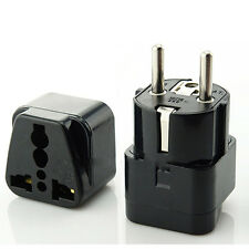 1x Portable Universal AU UK US to EU AC Power Socket Plug Travel Charger Adapter