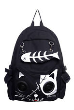 Black And White Kitty Speakers Plug & Play Music BagPack By Banned Apparel