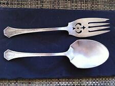 REAR Silver Plated REED & BARTEN Salad Servers Embossed OLIVE ANNIE Spoon Fork