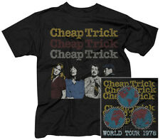 Cheap Trick- World Tour 1978 (Front/Back) Apparel T-Shirt M - Black