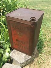 Rare BISBEE Pure Raw Linseed Oil Large Metal Container