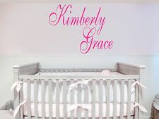 Custom Names Removable Art Vinyl Wall Decal Sticker Decor Baby Room Nursery