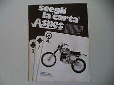 advertising Pubblicità 1979 MOTO ASPES 125 RGC