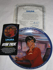 Uhura Communications Officer 1983 Star Trek Collector's PLATE Hamiliton COA