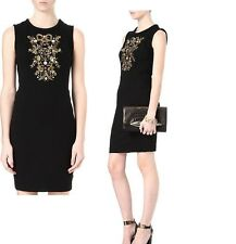 JUICY COUTURE BLACK PONTE EMBELISHED DRESS Size 6 new $248