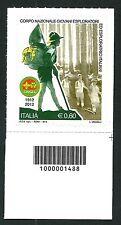 Italia Repubblica 2012 : Corpo Nazionale Giovani Esploratori  con codice a barre