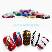 DIY 10Pcs Mixed Colors Rolls Striping Tape Line Nail Art Decoration Sticker Chic