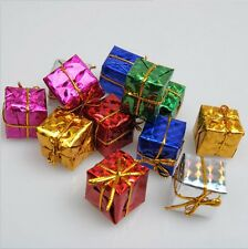 12Pcs Christmas Tree Ornaments Small Gift Box Xmas Hanging Party Home Decoration