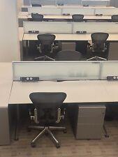 Herman Miller Desks x100 Inc Desk Dividing Screen, Cable Management And Pedestal