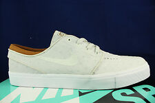 NIKE ZOOM STEFAN JANOSKI L LEATHER IVORY LIGHT BONE OSTRICH 616490 102 SZ 8.5