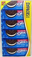 Oreo Double Stuffed Nabisco 12 Packs Cookies Bulk Oreos Chocolate Free Ship