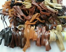 250pcs rubber HAIR BANDS BRAIDING RUBBER BROWN COLOR rope clip bow large