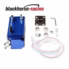 Blue Universal Billet Aluminum Square Oil Cylinder Catch Reservoir Tank Can Kit