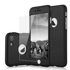 360° Hybrid Silicon Hard Ultra thin Case + Tempered Glass Cover For iPhone 6 6S