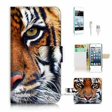 iPod Touch 6 iTouch 6 Flip Wallet Case Cover! P0029 Tiger Face