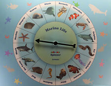 MARINE LIFE SPINNER GAME Sea Ocean Animal Education School Materials Children