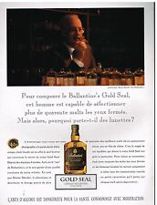 Publicité Advertising 1992 Scotch Whisky Gold seal Ballantine's avec Jack Goudy