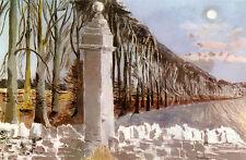 Paul Nash pilastro e Luna STAMPA D'EPOCA IN 14 X 11 Pollici Mount mozzafiato