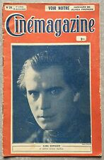 CINEMAGAZINE n°28 Ziska LARS HANSSON Gaston Glass.. 1922*