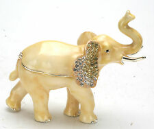 Decorative Collectibles Jewelry Or Trinket Boxes: Elephant w/ Swarovski Crystal.