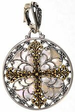 Carolyn Pollack Mother of Pearl Sterling Silver & Brass Enhancer