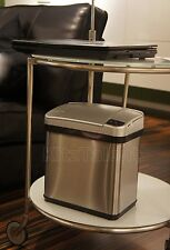 Small Automatic Sensor Trash Can Stainless Steel 2-Gallon Office Kitchen Garbage