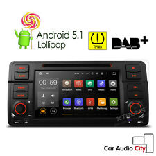 IN Dash BMW E46 M3 318 320 Android 5.1 Car GPS Sat Nav Stereo CD DVD Player OBD2