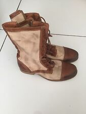 Allsaints Beige Fabric/leather Boots