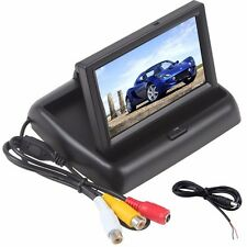 "4.3"" LCD TFT Monitor Screen Foldable Car Rear View Kit for Reverse Camera UK"