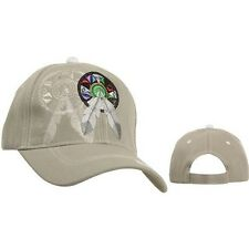 Baseball Cap with Dream Catcher and Feathers Embroidered and Embossed