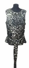 WALLIS Top Size 18 Dark Grey Black Beading Party Summer Holiday Evening