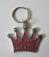 x If the tiara fits crown Engraveable DOG CAT PET COLLAR CHARM ganz