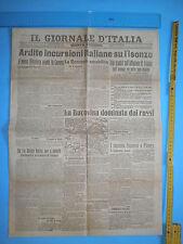 PRIMA GUERRA MONDIALE 26/6/1916 IL GIORNALE Incursioni italiane su Isonzo 291