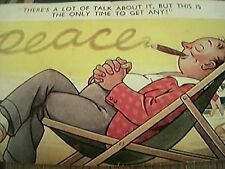 postcard used bamforth no 1048 time for peace