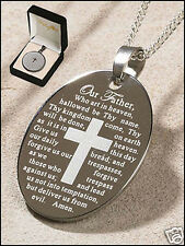 Our Father, The Lord's Prayer Engraved Pendant  NIB SKU (PD054)