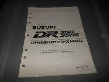 Factory OEM Suzuki 1994 DR350 DR350S Supplementary Service Manual 26pgs