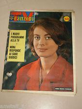 TV SORRISI CANZONI=1961/51=ANNA MARIA FERRERO=MINA=JULIETTE GRECO=ANNA PALOMBA=