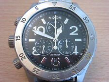 Nixon refined The 38-20 Chrono stainless steel mens wristwatch watch