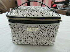 Victoria's Secret Travel Train Case Duo w/Cosmetic Beauty Bag White Laser Cut