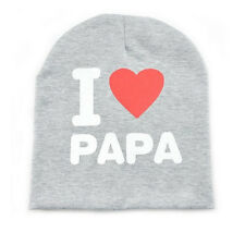 Gray I Love PAPA Newborn Baby Toddlers Infants Unisex Caps Kids Warm Beanie Hats