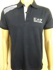 "MEN`S ARMANI POLO SHIRT SIZE XL 44"" DESIGNER SLIM FIT NAVY TOP - NEW"