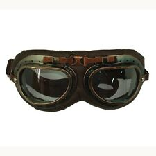 Vintage Goggle Brown : Scooter Bike Racing Motorcycle Helmet Accessories