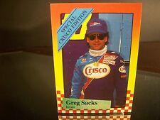 Greg Sacks #88 Crisco Maxx Race Cards Crisco Edition 1989 Card #1