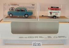 Brekina 1/87 Nr.22409 Fiat 124 mit Anhänger Gelati ital. Eis OVP #3235