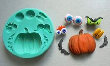 Silicone Mould HALLOWEEN PUMPKIN WITH EYES Sugarcraft Cake Decorating Fondant
