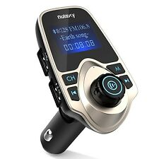 [Upgraded Version] Nulaxy Bluetooth FM Transmitter MP3 Player Hands-free Call...