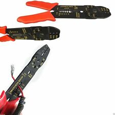 "8"" CRIMPING CUTTING TOOL CABLE WIRE CUTTER STRIPPER PLIERS ELECTRICAL INSULATED"