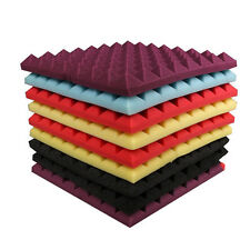 12x Pyramid Studio Acoustic Foam Sound Absorption Treatment Panels Wedge 5 Color