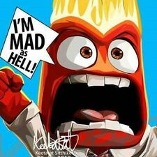 anger inside out canvas quotes wall decals photo painting framed pop art poster
