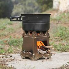 LIXADA Compact Folding Wood Stove for Outdoor Camping Cooking Picnic O0F9